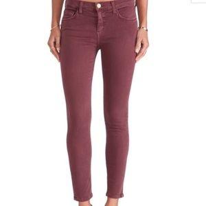 Current/Elliott The Stiletto Skinny Jeans Burgundy